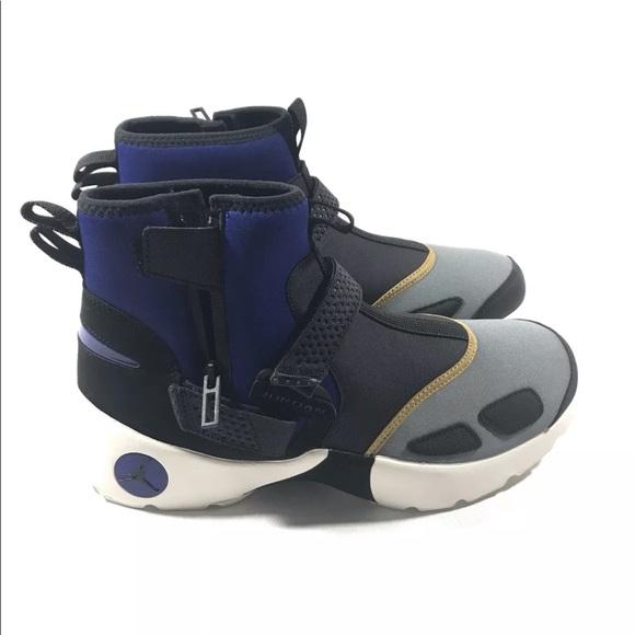d0861aee705 Nike Air Jordan Trunner LX High NRG Black Blue Gld